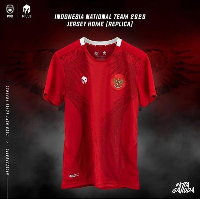 Foto Produk MILLS TIMNAS Indonesia jersey home Replica version 1014GR RED original dari Kicosport