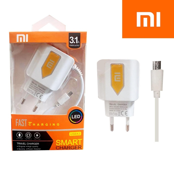 Foto Produk CHARGER 3 USB BRANDED SMART CHARGER 3,1 A XIAOMI dari LNA ACC