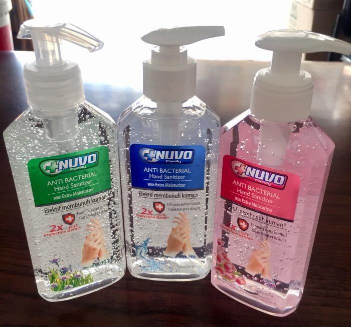 Foto Produk Nuvo hand sanitizer 250 ml. Nuvo hand sanitizer 250ml dari Bigzozo Online Store