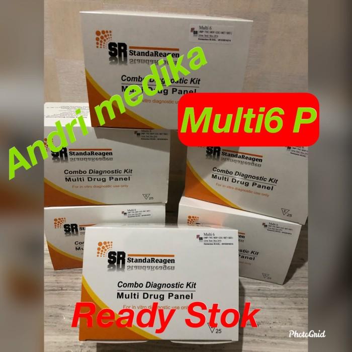 Foto Produk Tes Strip Narkoba-Multi6 -Panel Merk SR isi 25 Test dari andri medika