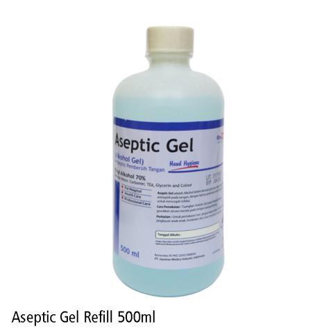 Foto Produk OneMed Aseptic Gel 500ml Refill / One Med Hand Sanitizer / Antiseptik dari Gudang Sehat Store
