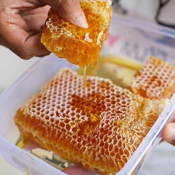 Foto Produk madu sarang malifera, raw honey,honey comb.500 gr dari rafli berkah shop
