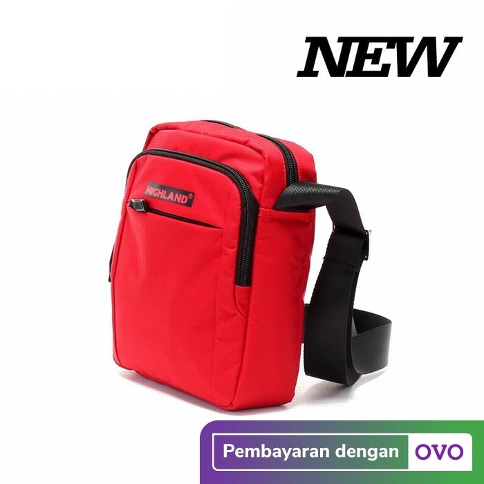 Foto Produk Tas Selempang Pria Sling Bag Slempang Import Kuliah Fashion HL8283 - Merah dari travelplus bag