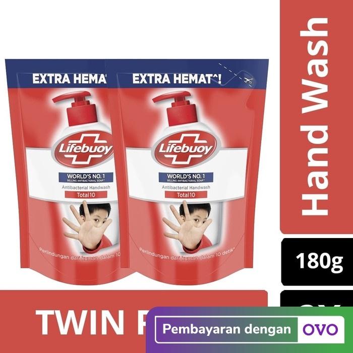 Foto Produk Lifebuoy Hand Wash Total 10 Refill 180ml - Twin Pack dari Unilever Official Store