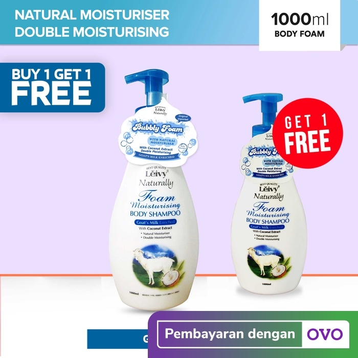 Foto Produk BUY 1 GET 1 FREE Leivy Body Foam 1000ml - All Varian - Goats Milk dari Leivy Naturally