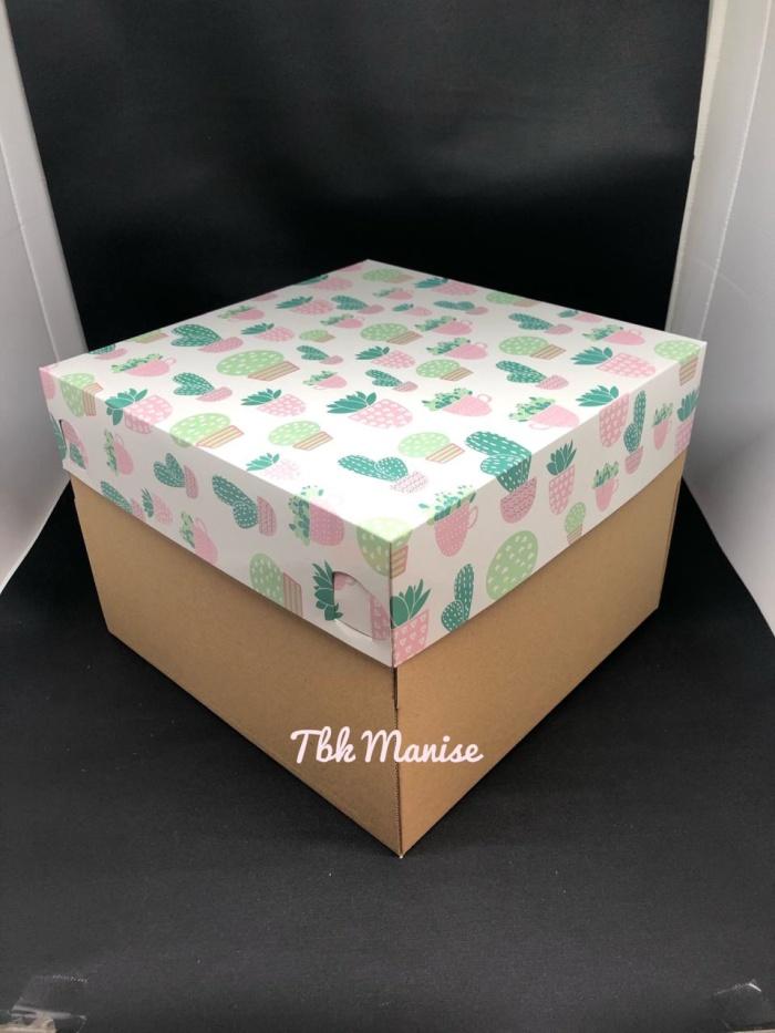 Jual Box Kue Kaktus 25x25x18cm / Kardus Kue / Kotak Kue ...