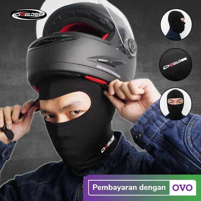 Foto Produk Cargloss BALACLAVA - all Black Full Face   Masker Balaclava Cargloss dari Helm Cargloss