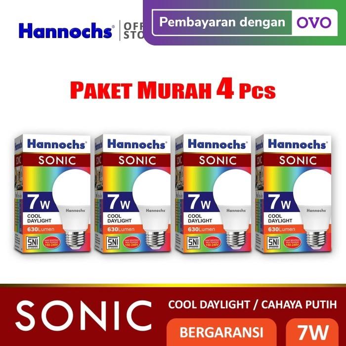 Foto Produk Hannochs - Lampu LED Sonic - 7 watt - Cahaya Putih (Paket 4 PCS) dari Hannochs Official Store
