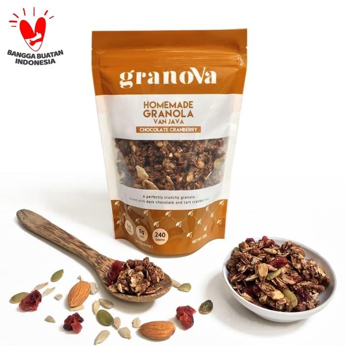 Foto Produk Granola Chocolate Cranberry 100gr dari Granova Granola