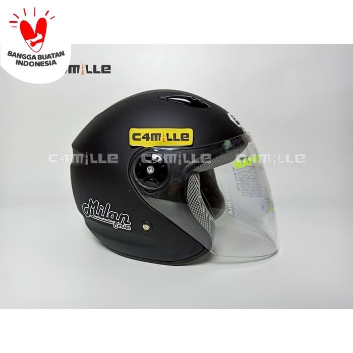 Foto Produk HELM BMC MILAN SOLID BLACK DOFF HALF FACE dari C4MILLE Store
