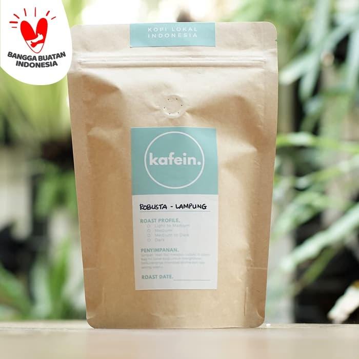 Foto Produk Kopi Fine Robusta Lampung 250 Gram ( Biji / Bubuk ) - Biji dari Kafein