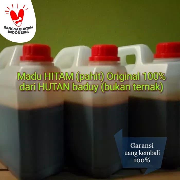 Foto Produk Madu HITAM pahit ORIGINAL murni 100% dari Hutan Baduy bannten dari Madu Odeng Baduy Murni