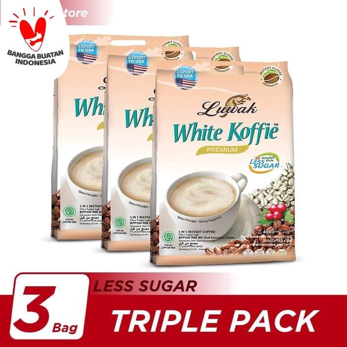 Foto Produk Kopi Luwak White Koffie Less Sugar Bag 20x20gr Triple Pack dari Kopi Luwak Official