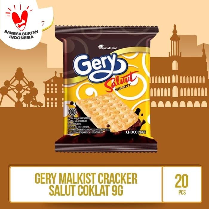 Foto Produk Gery malkist cracker salut coklat -9g By GarudaFood (MALS4) / Pack dari GarudaFood
