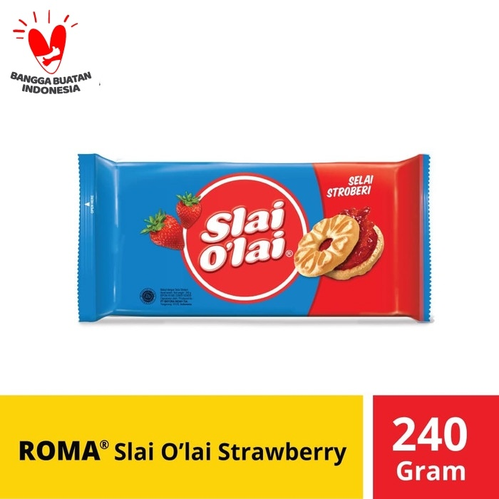 Foto Produk Roma Slai O'Lai Strawberry @240 Gr dari Mayora Official Store