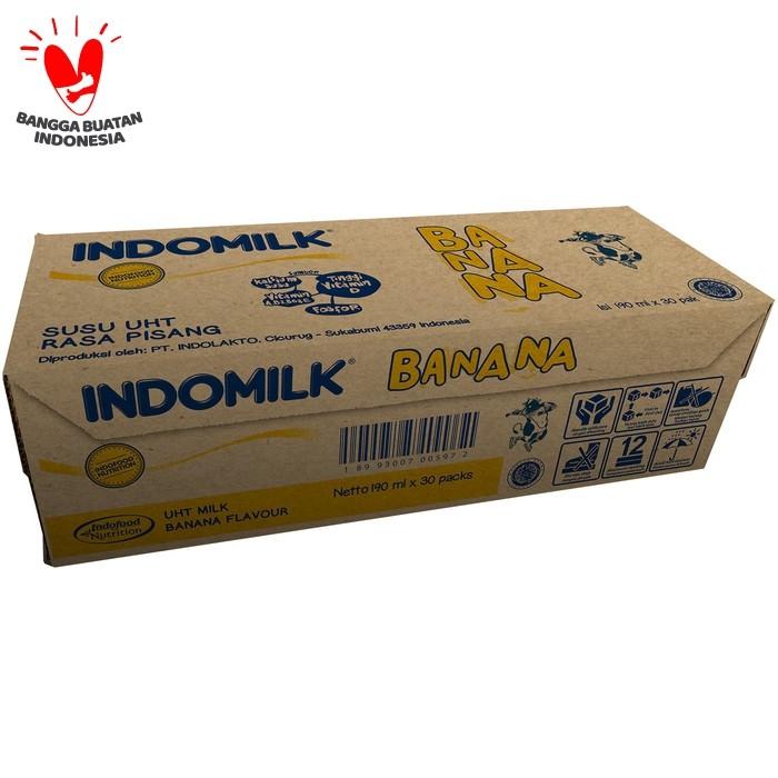 Foto Produk SUSU UHT INDOMILK BANANA BLAST 190 ML X 30 Pcs dari Indomilk Official Store