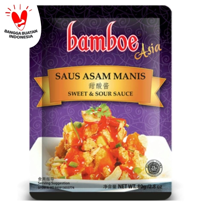 Foto Produk Bamboe Saus Asam Manis 80 gr dari toko dua putra