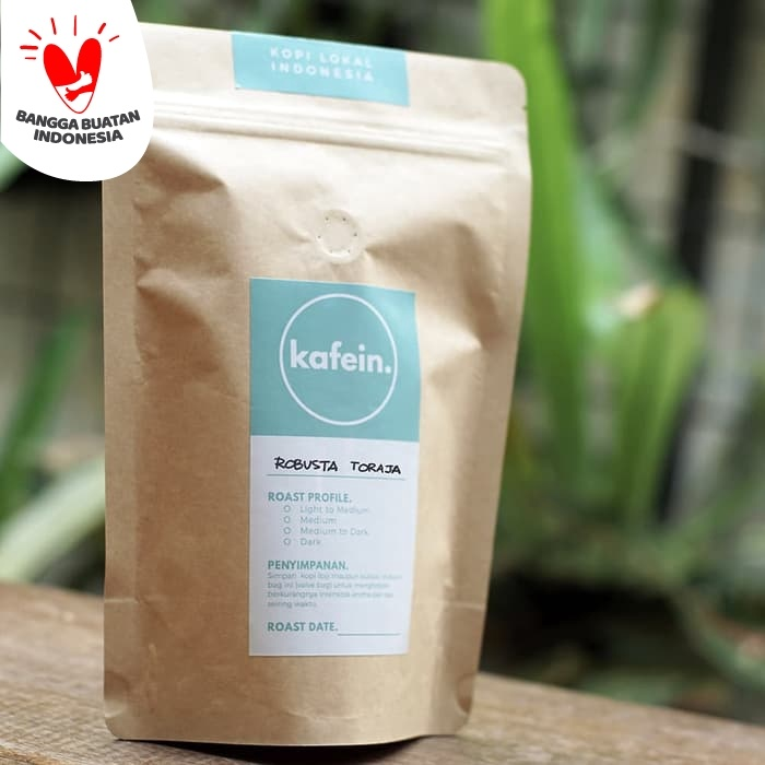 Foto Produk Kopi Fine Robusta Tana Toraja 250 Gram ( Biji / Bubuk ) - Biji dari Kafein