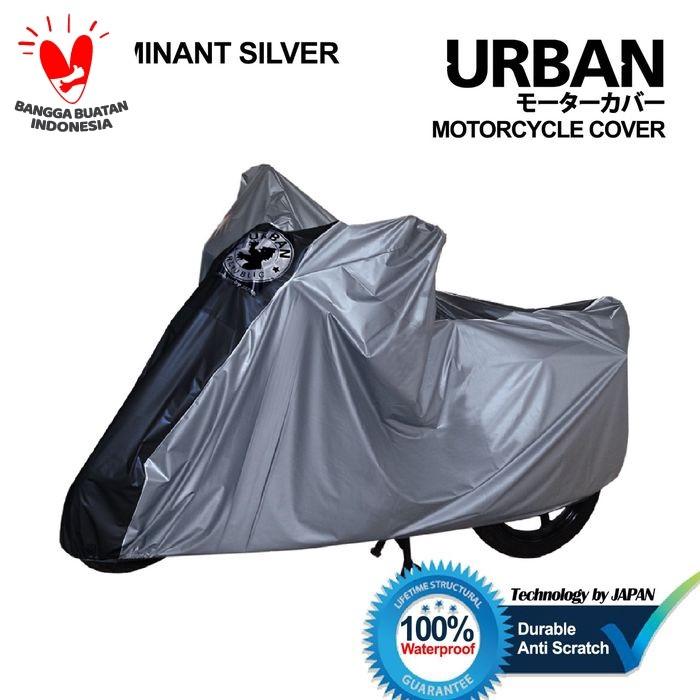 Foto Produk Cover Motor Urban Sarung Motor Matic Bebek Vario Mio Beat Supra Scoopy - SilverListHitam dari lbagstore
