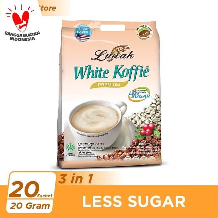 Foto Produk Kopi Luwak White Koffie Less Sugar Bag 20x20gr dari Kopi Luwak Official