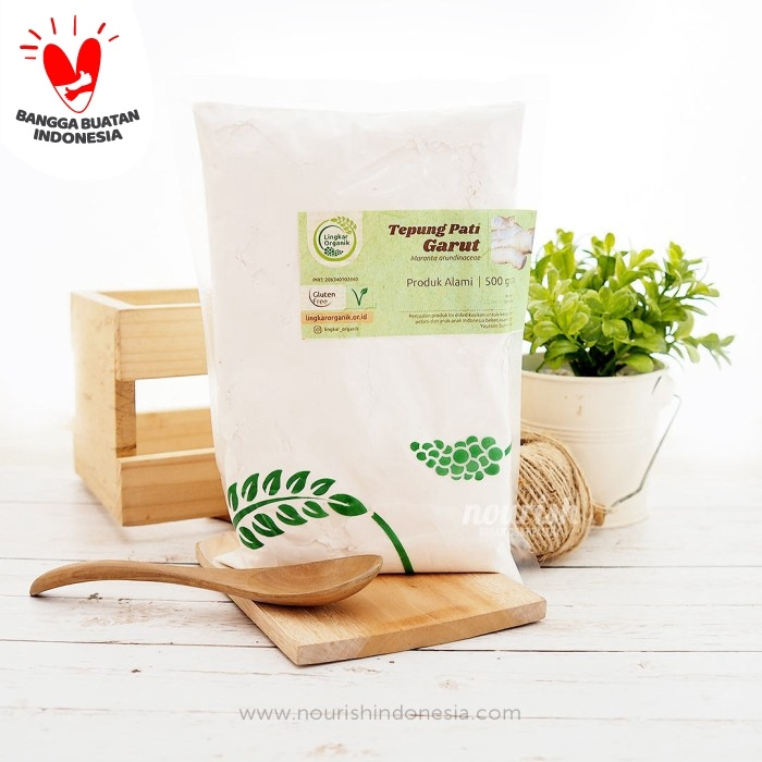Foto Produk Tepung Pati Garut Organik (ARROWROOT POWDER) (500gr) dari Nourish Indonesia