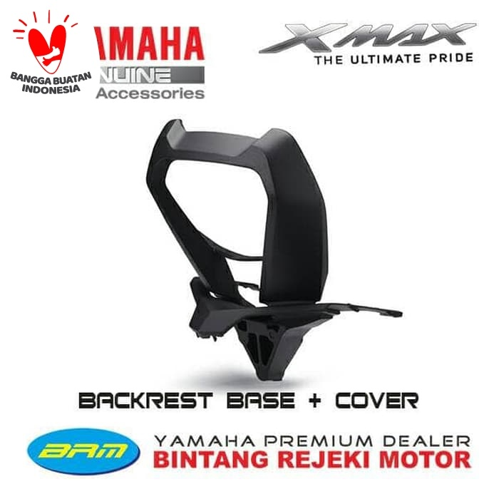 Foto Produk BACKREST BASE BLACK + COVER YAMAHA XMAX 250 / 300 dari Yamaha Bintang Rejeki