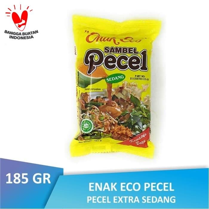 Foto Produk [PACK] Enak Eco Bumbu Pecel SEDANG 185 GR dari Warung Lebaran