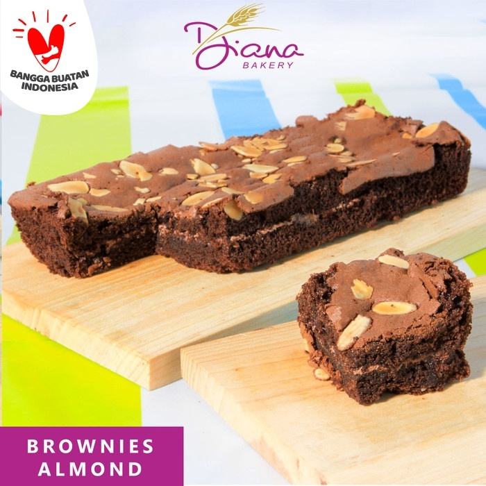 Foto Produk Brownies Almond | cokelat | kue | bolu | cake artis | chocolate dari Diana Bakery