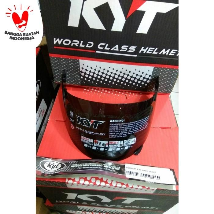 Foto Produk VISOR KACA HELM KYT RC7 KYT RC SEVEN KYT R10 KYT K2 RIDER DARK SMOKE dari pake helm