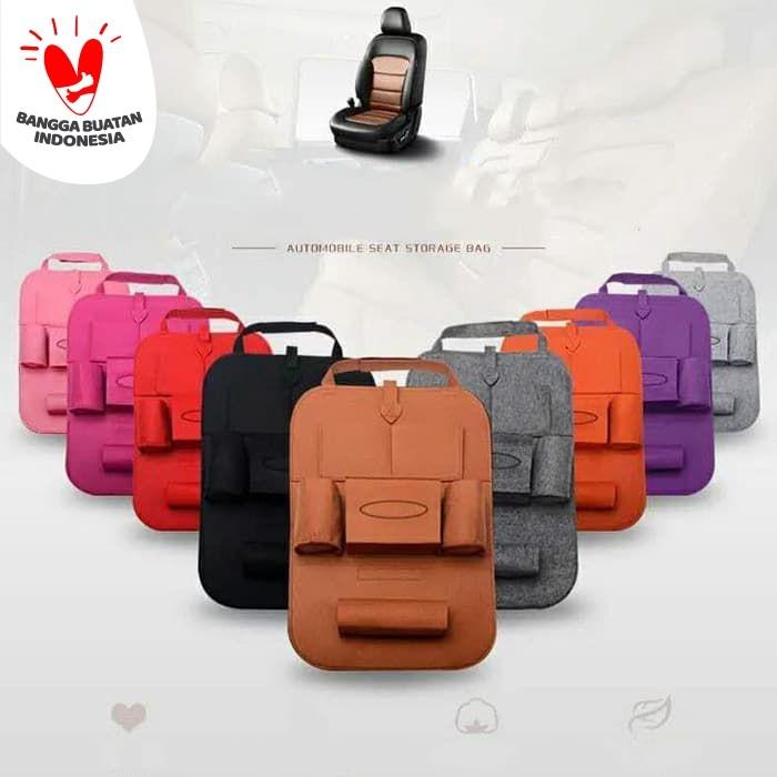 Foto Produk Car Seat Organizer Tas Mobil Belakang Jok Kursi Ramping K6 - Abu-abu dari Best Accessories
