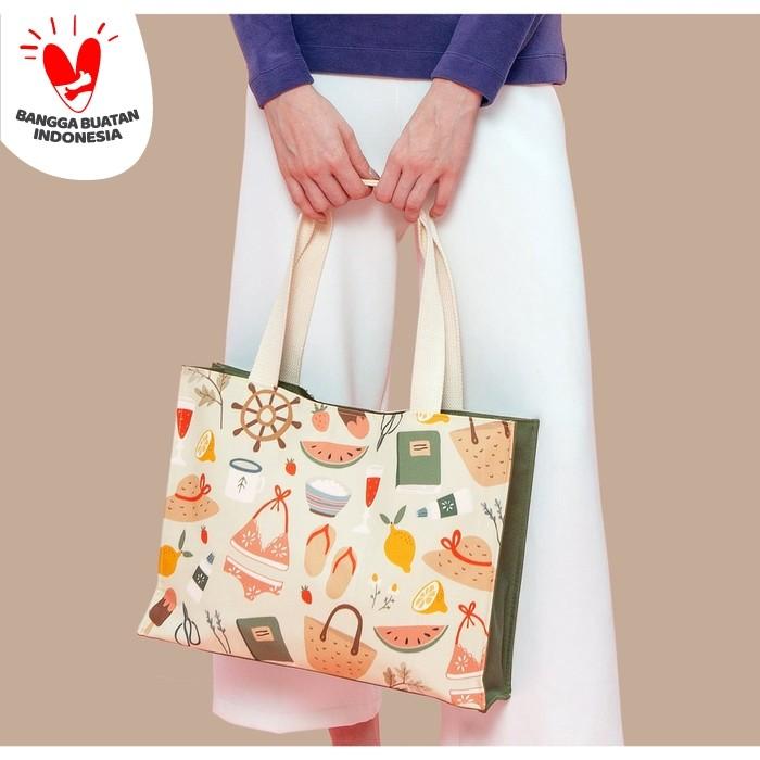 Foto Produk Tivoli Tote Bag Summer Tas Pundak Kerja Belanja Besar dari SOVLO