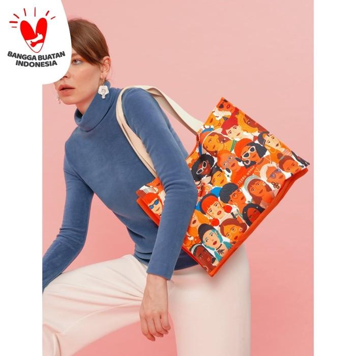 Foto Produk Tivoli Tote Bag Strong Woman Tas Pundak Kerja Belanja Besar Handbag dari SOVLO
