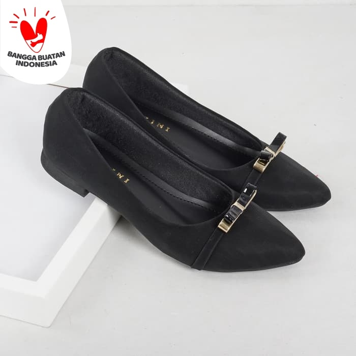 Foto Produk Guzzini FB 056 Hitam - Sepatu Flat Wanita Casual dari Guzzini