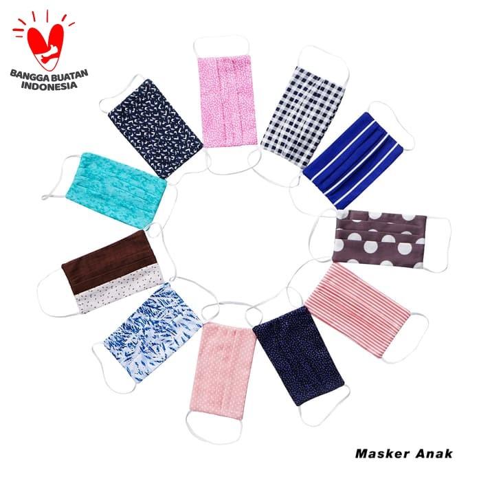 Foto Produk Masker Anak Rianty Batik Maskr Katun Masker Kids - Isi 5pcs dari Rianty Batik