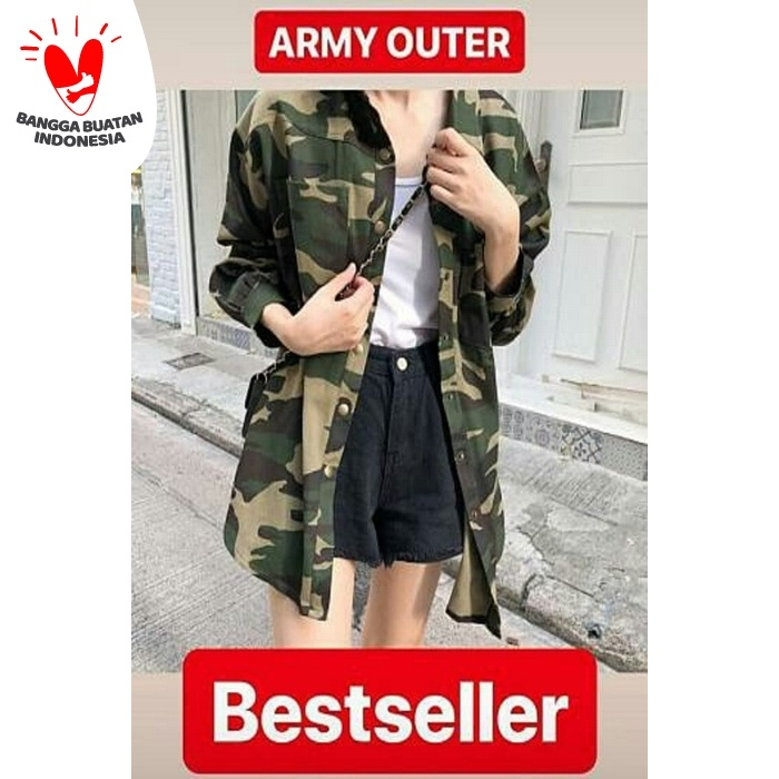 Foto Produk Army Outer [Outwear 0133] RIY Jaket Sweater Cardigan dari Super Model