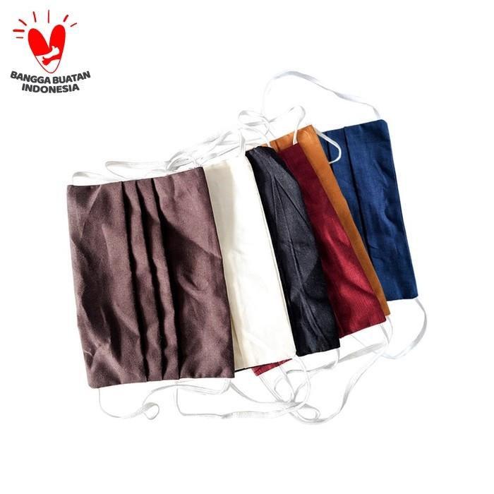 Foto Produk Masker Kain Polos Berfilter 2 Aply | Masker Kain Non Medis - polos dari Rianty Batik