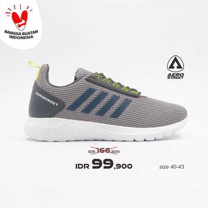 Foto Produk Aerostreet 40-43 Questar Abu Neon - Sepatu Sneakers Sport Pria Wanita - 43 dari Aerostreet