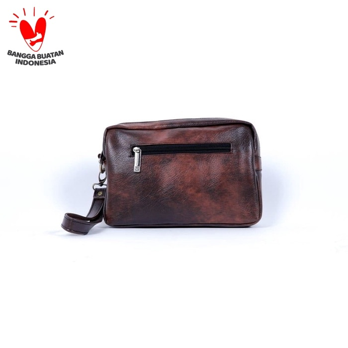 Foto Produk Woodbags Leather Clutch Coby - Dompet Kulit, Tas Tangan - Cokelat dari Woodbags Store
