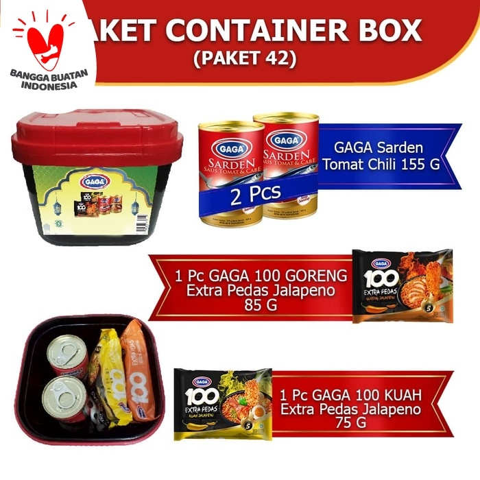Foto Produk GAGA Paket Special FREE Container Box Serba Guna dari Gaga Official Store