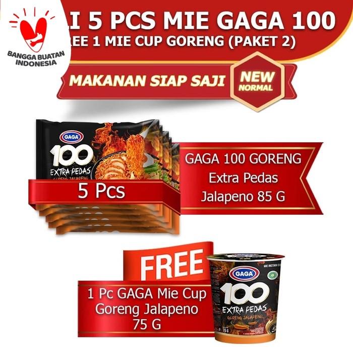 Foto Produk GAGA100 Extra Pedas Goreng Jalapeno, Mie Cup Goreng Jalapeno (kode2) dari Gaga Official Store