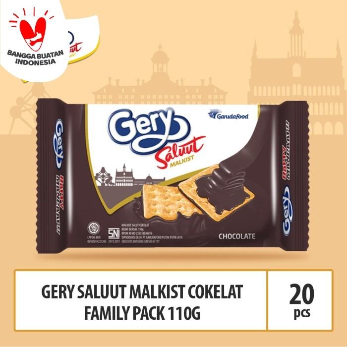 Foto Produk Gery Saluut Malkist Coklat Family Pack -110g (Beli 10 Gratis 10) dari GarudaFood