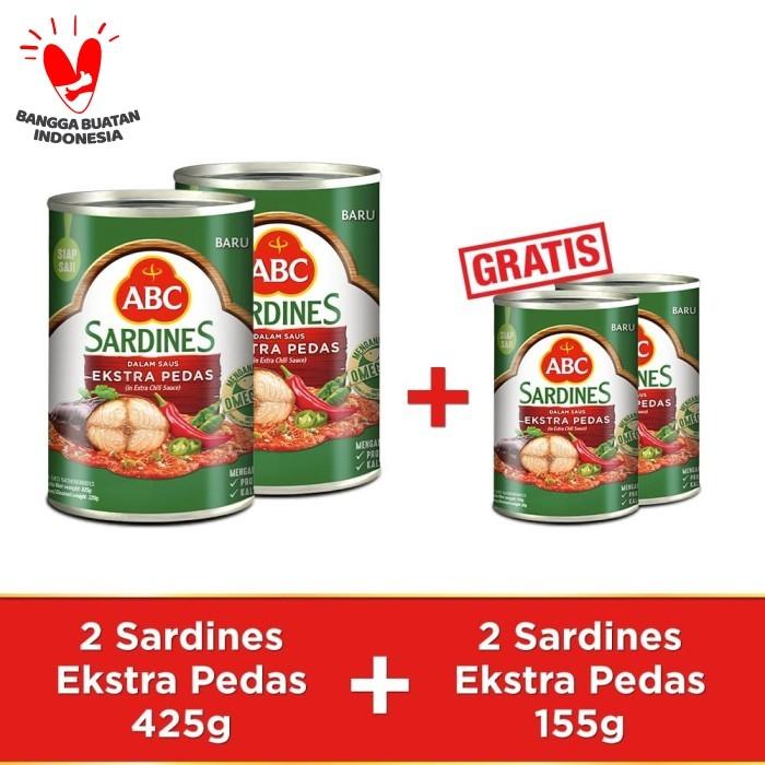 Foto Produk ABC Sarden Saus Extra Pedas 425 g - Buy 2 pcs Get 2 Free Sarden 155 g dari ABC Official Store