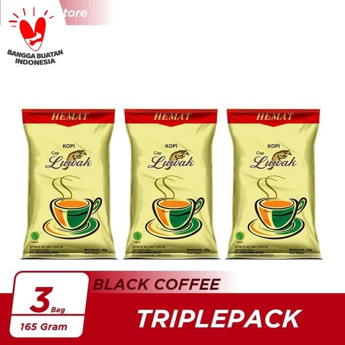 Foto Produk Kopi Luwak Super Hemat Black Coffee Bag 165gr Triple Pack dari Kopi Luwak Official