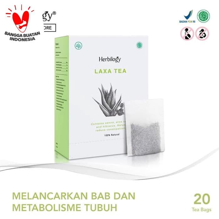 Foto Produk Herbilogy Laxa Tea - Detox & Lancar BAB 20 Kantong Teh dari Herbilogy