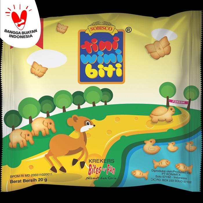 Foto Produk TINI WINI BITI biskuit anak Keju 20 g 3 sachet biskuit bentuk binatang dari Konimex Store