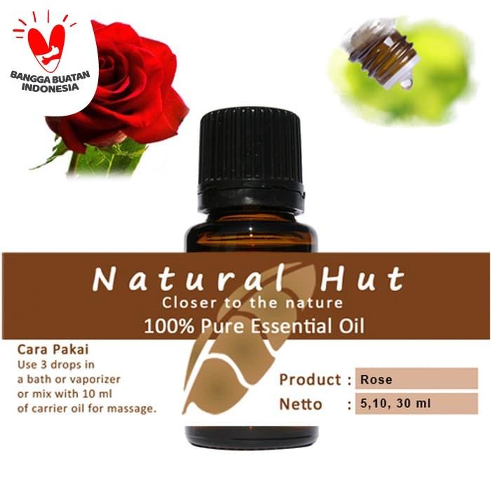 Foto Produk 100% PURE ESSENTIAL OIL (ROSE) - 5ml dari Natural Hut