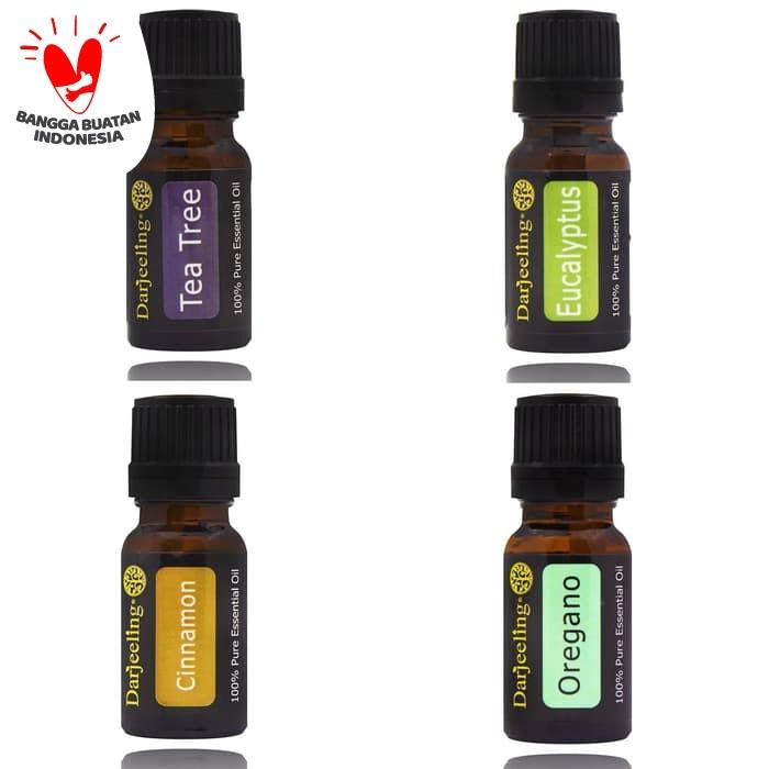 Foto Produk Paket Hemat 4 x 10ml Essential Oil Immune Boosting Kit 100% Murni dari Darjeeling Store