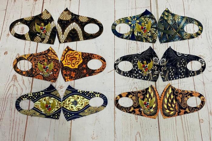 Foto Produk MASKER KOREA PREMIUM PRINTING masker kain / earloop / cuci ulang / se dari Indonesia Kuat