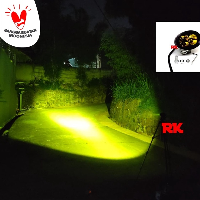 [SIAP KIRIM] Lampu Led Cree Offroad All Season | Lampu Outdoor Cree 20 Watt Kuning DISKON