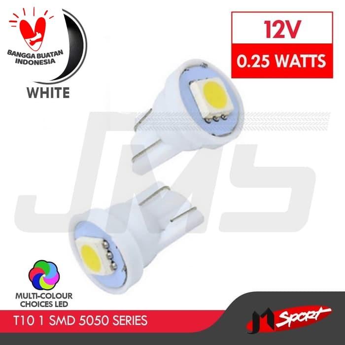 Foto Produk Lampu LED Mobil / Motor / Senja T10 W5W / Wedge Side 1 SMD 5050-White dari Jaya Motorsport